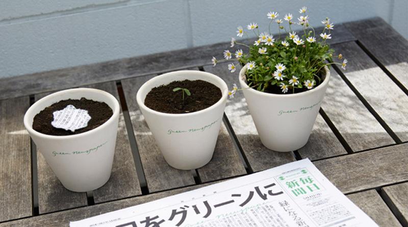 """""""З паперу проростають квіти"""": в Японії створили екогазету в яку додали насіння рослин (фото)"""